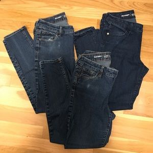 Bundle of THREE Old Navy Super Skinny Jeans